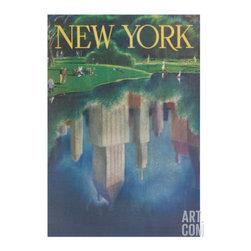 Travel Poster, Central Park, New York City -