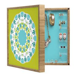 DENY Designs - Karen Harris Mod Medallion Green BlingBox Petite - kKar
