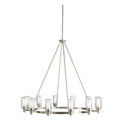 Kichler Lighting - Kichler Lighting 2347NI Circolo Brushed Nickel 12 Light Chandelier - Kichler Lighting 2347 Circolo 12 Light Chandelier
