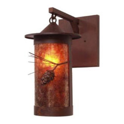 Steel Partners Inc - Hanging Sconce - PASADENA PONDEROSA PINE - Every piece we create is unique — handcrafted at our factory in Chehalis, Washington, USA. Due to this, lead times are 2 to 4 weeks.