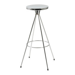 Eurostyle - Caroline-C Swivel Counter Stool (Set Of 2)-Chr - This attractive counter stool provides you with a relaxed sense of comfort, yet the shine adds a spark of sophistication. It also features tips at the ends of legs to help keep the base steady as you swivel, just in case you need it.