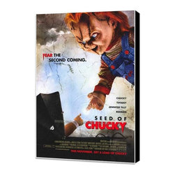 Child's Play 5: Seed of Chucky 27 x 40 Movie Poster - Style B - Museum Wrapped C - Child's Play 5: Seed of Chucky 27 x 40 Movie Poster - Style B - Museum Wrapped Canvas. Amazing movie poster, comes ready to hang, stretched on canvas museum wrap canvas with color sides. Cast: John Waters