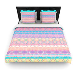"""Kess InHouse - Nina May """"Denin & Diam New Mexico"""" Pastel Cotton Duvet Cover (Twin, 68"""" x 88"""") - Rest in comfort among this artistically inclined cotton blend duvet cover. This duvet cover is as light as a feather! You will be sure to be the envy of all of your guests with this aesthetically pleasing duvet. We highly recommend washing this as many times as you like as this material will not fade or lose comfort. Cotton blended, this duvet cover is not only beautiful and artistic but can be used year round with a duvet insert! Add our cotton shams to make your bed complete and looking stylish and artistic!"""