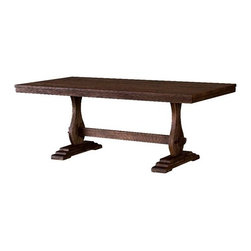 Pili Rustic Dining Table - •Made of Solid Pine