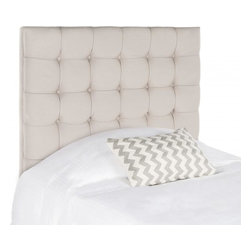 Safavieh - Janna Twin Headboard - The luxurious Janna twin headboard lends new meaning to the term beauty sleep.  Exquisitely button-tufted in taupe pure linen, this headboard with plush elegant tufting commands center stage in traditional and transitional bedrooms.
