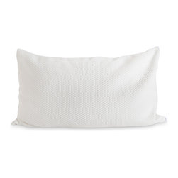 100% Natural Shredded Latex Pillow by ExceptionalSheets - The 100% Natural Shredded Latex Pillow by ExceptionalSheets uses a combination of shredded talalay latex and gelled microfiber fill.  This combination makes for an enticingly soft yet supportive pillow.  It has the look and feel of down without the allergens. Because it is constructed using latex, it will never flatten. Consistent filling does not shift or clump and has quick loft recover. Naturally hypoallergenic, antimicrobial and dust mite resistant. The shredded latex allows air to travel through the pillow which aids in a cooler sleeping experience.