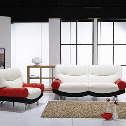 Siena Modern Leather Sofa Set 992 - Impress your friends and family with this refreshing two-pieced leather sofa set