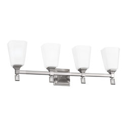 Murray Feiss - Murray Feiss Sophie 4 Bulb Brushed Steel Vanity Strip X-SB-40074SV - Murray Feiss Sophie 4 Bulb Brushed Steel Vanity Strip X-SB-40074SV