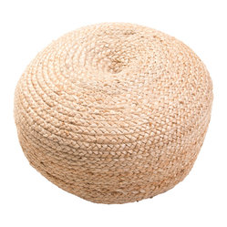 Jaipur Rugs - Saba Sangam Pouf - Saba is a natural fiber pouf. We are using thermocol beads which keep their shape longer.