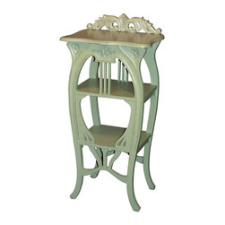 Trade Winds - New Trade Winds Side Table Green Painted - Product Details