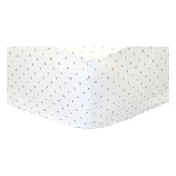 New Arrivals - New Arrivals Crib Sheet - Picket Fences - The New Arrivals Crib Sheet - Picket Fences is a perfect match for your New Arrival Crib Bedding Set. Size 27.5W x 51L x 8H Fits Standard Size Crib Mattress. Custom made in the USA. Please allow 3 - 4 weeks for delivery.
