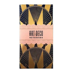 Art Deco Notebooks - I'm smitten with these art deco notebooks. Let them spark your imagination and bring out your creative inner self.