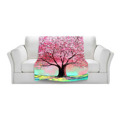 DiaNoche Designs - Throw Blanket Fleece - Story of the Tree lxxiv - Original Artwork printed to an ultra soft fleece Blanket for a unique look and feel of your living room couch or bedroom space.  DiaNoche Designs uses images from artists all over the world to create Illuminated art, Canvas Art, Sheets, Pillows, Duvets, Blankets and many other items that you can print to.  Every purchase supports an artist!