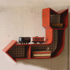 Eclectic Wall Shelves by Iron Accents