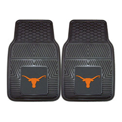 Fanmats - Fanmats Texas 2-piece Vinyl Car Mats - Any Texas Longhorn fan will love to show their team spirit with these 2-piece vinyl car mats. The mats are universally sized to fit cars, SUVs, trucks, or RVs, and the team logo is the authentic, officially-licensed team design.