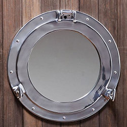 Porthole Wall Mirror - What a fun way to add a mirror to a room! This porthole adds such a fun flair to any space.