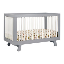 Babyletto - Babyletto Hudson 3-in-1 Convertible Crib - Delight in mid-century modern appeal with the Hudson 3-in-1 Convertible Crib. Stylish rounded spindles bring a simple charm and give the Hudson Crib an open,radiant feel.