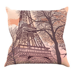 "Kess InHouse - Sam Posnick ""Eiffel Tower"" Throw Pillow (16"" x 16"") - Rest among the art you love. Transform your hang out room into a hip gallery, that's also comfortable. With this pillow you can create an environment that reflects your unique style. It's amazing what a throw pillow can do to complete a room. (Kess InHouse is not responsible for pillow fighting that may occur as the result of creative stimulation)."
