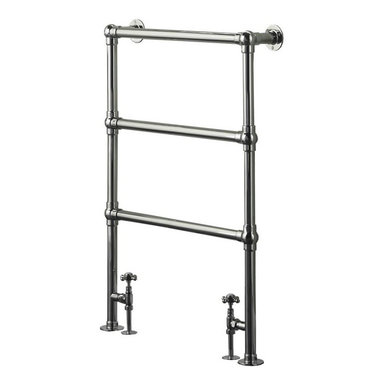 """Hudson Reed - Countess Traditional Heated Towel Warmer Rail & Valves 37"""" x 26"""" - Chrome Finish - Frame manufactured from quality brass tubing for a true period look. Ideal for use in the bathroom kitchen cloakrooms etc. Supplied with valves as standard."""