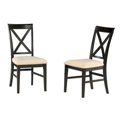 Atlantic Furniture - Atlantic Furniture Lexington Side Chair in Espresso (Set of 2)-Cappuccino - Atlantic Furniture - Dining Chairs - AD772131 -The Atlantic Furniture Lexington Dining Side Chairs are constructed from Eco-friendly solid hardwood and have an elegant Espresso wood finish. This set of two dining side chairs feature a cross back design and a Cappuccino or an Oatmeal colored seat cushion. The Lexington Dining Side Chairs are perfect for a casual dining room setting.