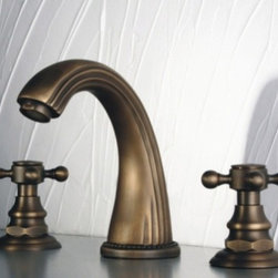 JollyHome - JollyHome Widespread Bathroom Sink Faucets Bronze - Complete parts and all install fittings are included.Water pressure tested for industry standard.Easy to keep clean and maintain.Ceramic valve core