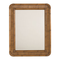 Lexington - Lexington Beach House Osprey Mirror 540-205 - Framed with a reeded bamboo design and soft radius corners. May be hung vertically or horizontally.