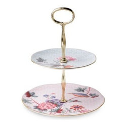 Wedgwood - Wedgwood Harlequin Cuckoo 2-Tier Cake Stand - Wedgwood Harlequin Cuckoo adds a touch of elegance and sophistication to afternoon tea drinking occasions and offers a fabulously indulgent gift idea.