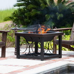 Fire Sense - Fire Sense 61331 Hammer Tone Bronze Cocktail Table Fire Pit - This decorative fire pit doubles as an attractive cocktail table. Constructed of sturdy high grade steel plated in our durable Hammer Tone Bronze finish, this durable fire pit table features a large fire box and a lower log storage rack. The steel cover easily converts this fire pit into the perfect cocktail table companion to any patio furniture grouping.
