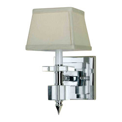 Candice Olson by AF Lighting - Candice Olson 6763-1W Cluny Chrome Wall Sconce - Candice Olson 6763-1W Cluny Chrome Wall Sconce