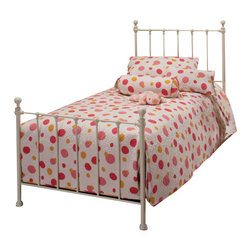 Hillsdale Furniture - Hillsdale Molly Panel Bed in White - Twin - Adorable old fashioned kids bed is updated with festive and trendy colors: blue, green, red and yellow. A new spin on an old standard.