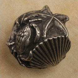 'Crab, Shell, & Starfish' Knob - This beach-style knob could be fun for a home on (or off) the coast.