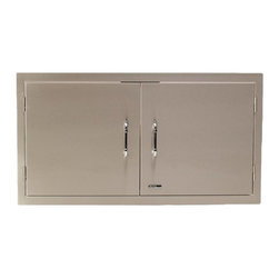 """Bull - 38"""" Double Door, Stainless Steel - The Bull 38 inch double doors provide a clean look to any access point that you may have on your island setup. These doors are constructed from high quality 304 stainless steel."""
