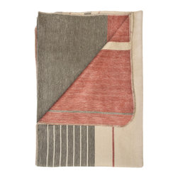 Shupaca - Terra-Cotta Blanket/Throw - Feeling a chill? You can warm up with this luxurious blanket in toasty tones of terra-cotta, berry and taupe. Its generous blend of soft acrylic and silky alpaca fibers is sure to keep you nice and cozy.