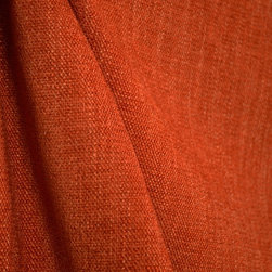 Austen Sedona Solid Burnt Orange Poly Chenille Fabric - The pattern Austin in the color Sedona is a vibrant burnt orange cheniile fabric. This upholstery weight fabric is also great for bedding and pillows along with some window treatments.