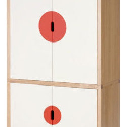 Solare Armoire - This modern armoire offers plenty of extra storage and fun contemporary design to add to your bedroom.