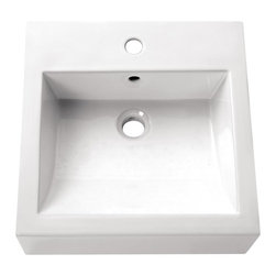 Avanity - 18 in. Square Above counter Sink - Above counter 18 in. Square Vitreous China Sink in White
