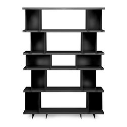 Blu Dot - Blu Dot SHILF Version 4.0, Black - Modern shelving... cafeteria style. What better way to showcase your Vonnegut collection alongside your beloved knickknacks than the SHILF modular shelving system. Combine steel components as you see fit without tools or hardware. Your collection will be the talk of the town. Available in ivory or matte black powder-coat. The biggest and baddest four pre-configured options, Version 4.0 gives you the utmost in storage capacity for all of your books, music, odds and ends and what-have-yous.