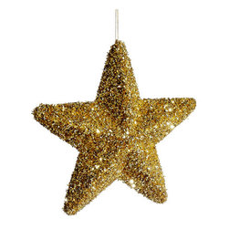 Silk Plants Direct - Silk Plants Direct Glitter Star Ornament (Pack of 12) - Pack of 12. Silk Plants Direct specializes in manufacturing, design and supply of the most life-like, premium quality artificial plants, trees, flowers, arrangements, topiaries and containers for home, office and commercial use. Our Glitter Star Ornament includes the following: