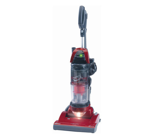 "Panasonic - Panasonic MC-UL915 ""Jet Force"" Bagless Vacuum Cleaner, Metallic Red - The Panasonic MCUL915 JetSpin Cyclone Pet-Friendly Bagless Upright Vacuum Cleaner features Cyclonic Filterless Cup Technology. Air is spun at jet speeds within the cup to separate the dirt and reduce the amount of debris that goes into the HEPA exhaust filter to limit maintenance. The motorized nozzle allows for gentler carpet cleaning and extended belt life. With the touch of a button, the agitator is shut off for an easy transition to safe bare floor cleaning. The dirt sensor lets you know whether or not there are still dirt particles being sucked into the vacuum from the spot on the carpet you are cleaning. For above-floor cleaning, quickly transition to the QuickDraw2 telescopic wand and Tools On-Board. The stretch hose and adjustable wand provide up to 12 feet of reach to clean even the highest places while the on-board tools allow you to tackle any cleaning task. Plus the pet air turbine brush quickly remove stubborn pet hair from stairs and upholstery.12-amp motor offers powerful cleaning performance