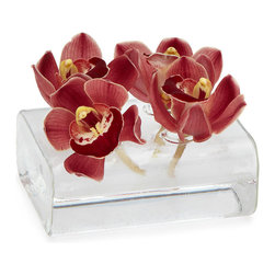 Inova Team -Modern Glass Bud Vase - A contemporary alternative to a big bouquet, this low-laying design offers a sleek destination for your favorite buds and blooms. Made from extruded tube glass, the building block-inspired silhouette allows you to lay several out like dominoes, or stand alone for a modern effect.
