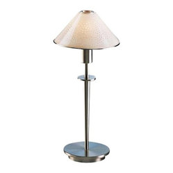 Contemporary Satin Nickel and Pearl Glass Mini Holtkoetter Desk Lamp