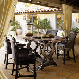 Lexington Home Brands - Bistro Table with Four Counter Stools - This set includes 4 counter stools and a bistro table.