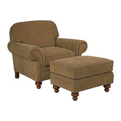 Broyhill - Lara II Elegant Traditional Chair and Ottoman Set - 022116-0Q1-5Q1