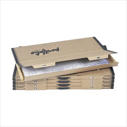 """Safco - Safco Portable 36""""x 24"""" Art and Drawing Wood Flat Files Storage (Set of 5) - Safco - Portfolios - 3008TS - This art and drawing portfolio folder keeps your work free of dents wrinkles folds and tears. Don't lose your work. Two metal turnbuckle closures secure the top and bottom of the portfolio and reinforced plastic handles mean worry-free transport. Units are also stackable so you can create an archival storage system."""