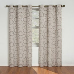 Insola - Insola Sphere Grommet Blackout Window Curtain Panels - Stylish jacquard weave blackout window curtain panels have been laboratory-tested to block out over 99% of outside light, up to 40% of unwanted noise and can help to save up to 25% off home heating and cooling costs.