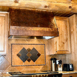 Products - Custom Metal Vent Hood for Sale. Copper, weathered Custom Vent Hood.