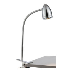 Lite Source - Lite Source Niko Modern / Contemporary LED Clip On Table Lamp XSL-C52322 - Lite Source Niko Modern / Contemporary LED Clip On Table Lamp XSL-C52322