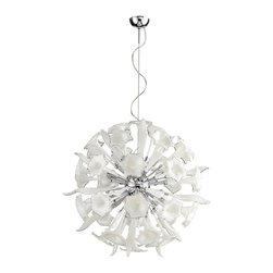 Cyan Design - Remy Pendant, Large - A stunning glass-and-chrome sculpture. This pendant lamp gives brilliant illumination to your entrance hall or large dining room with sixteen 100-watt bulbs. Comes in small or large sizes. Large: 3 ft. 4 in. in diameter.