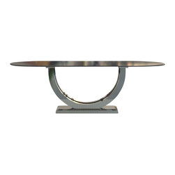 Woodcraft - Metro Chrome + Oval Top Table, 48x108 - The ultimate sleek modern table.  We spared no ground with this design.  The best of both worlds but combining them in such a way that fit perfectly in harmony.