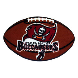 Fanmats - NFL Tampa Bay Buccaneers Football Shaped Accent Rug - Features: